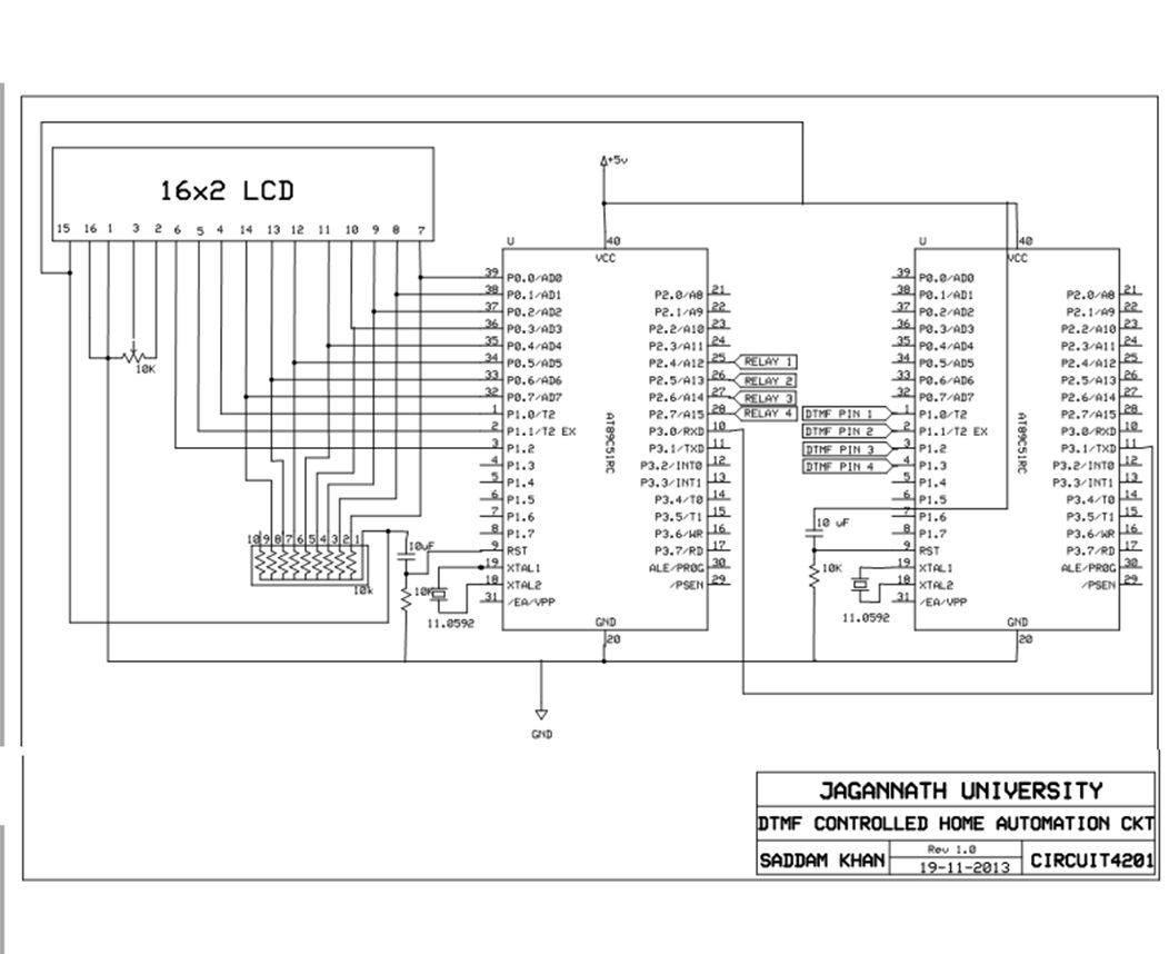 DTMF Controlled Home Automation System Using 8951