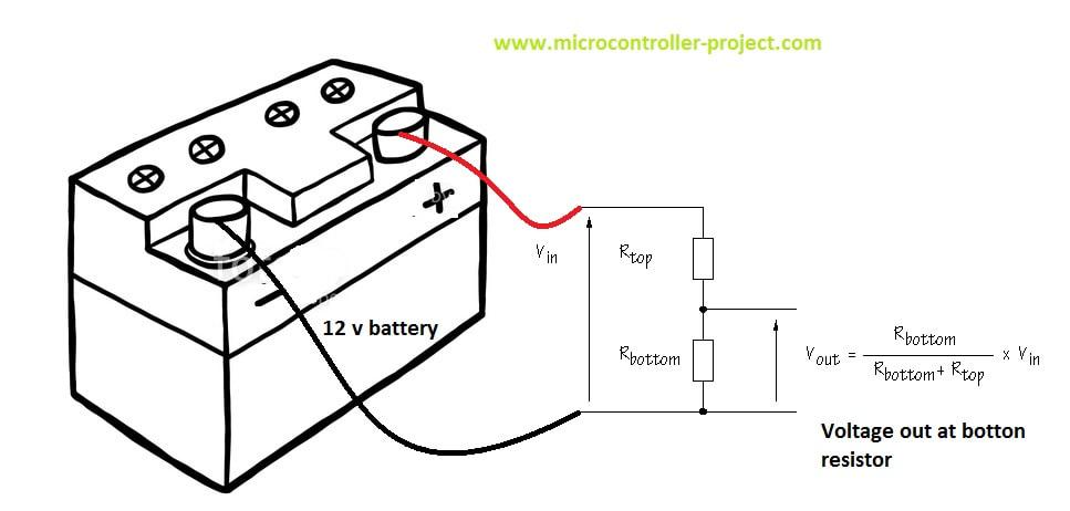 Battery voltage monitor with nodemcu Esp8266-12E WiFi module