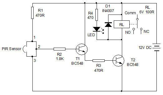 PIR Sensor based Alarm