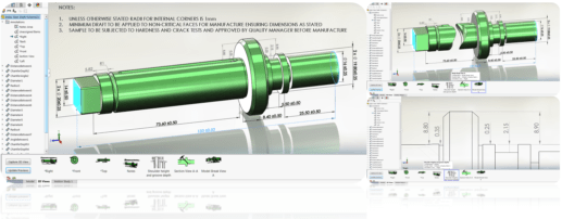 how to present the mbd data of a shaft