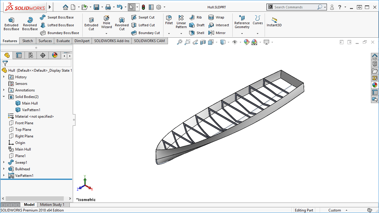 Utilizing SOLIDWORKS Variable Pattern in Designs