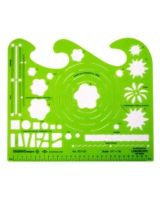 Alvin TD1178  Landscape Design Drafting Template