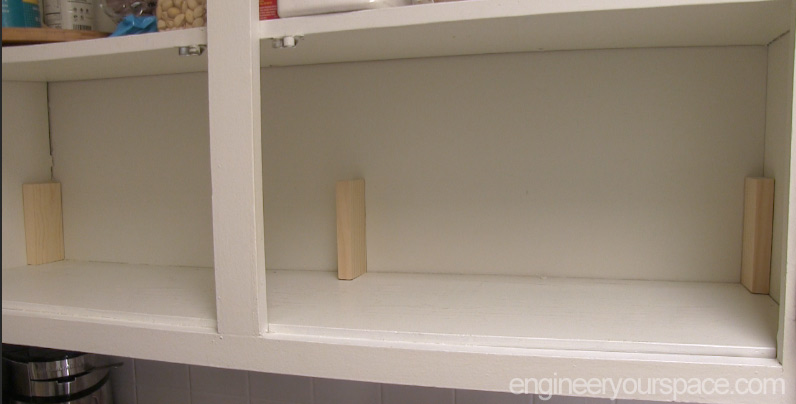 shelves for kitchen cabinets pegasus faucet small ideas add an extra shelf in your upper easy supports