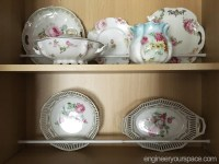 How to organize kitchen cupboards to display china | Smart ...