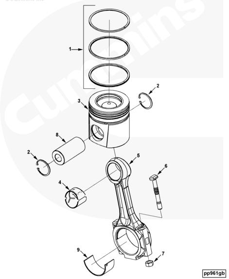 Cummins 6CT Engine Connecting Rod Kit 3901383 3942579