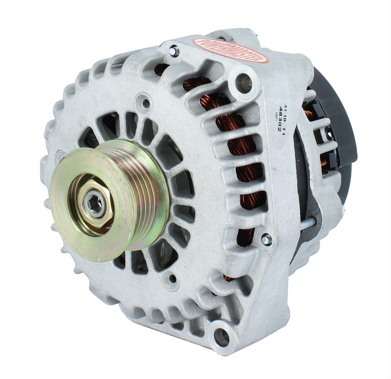 hight resolution of powermaster gm style ad alternator pm48302 natural 215 amp 2 pin 6 rib pulley