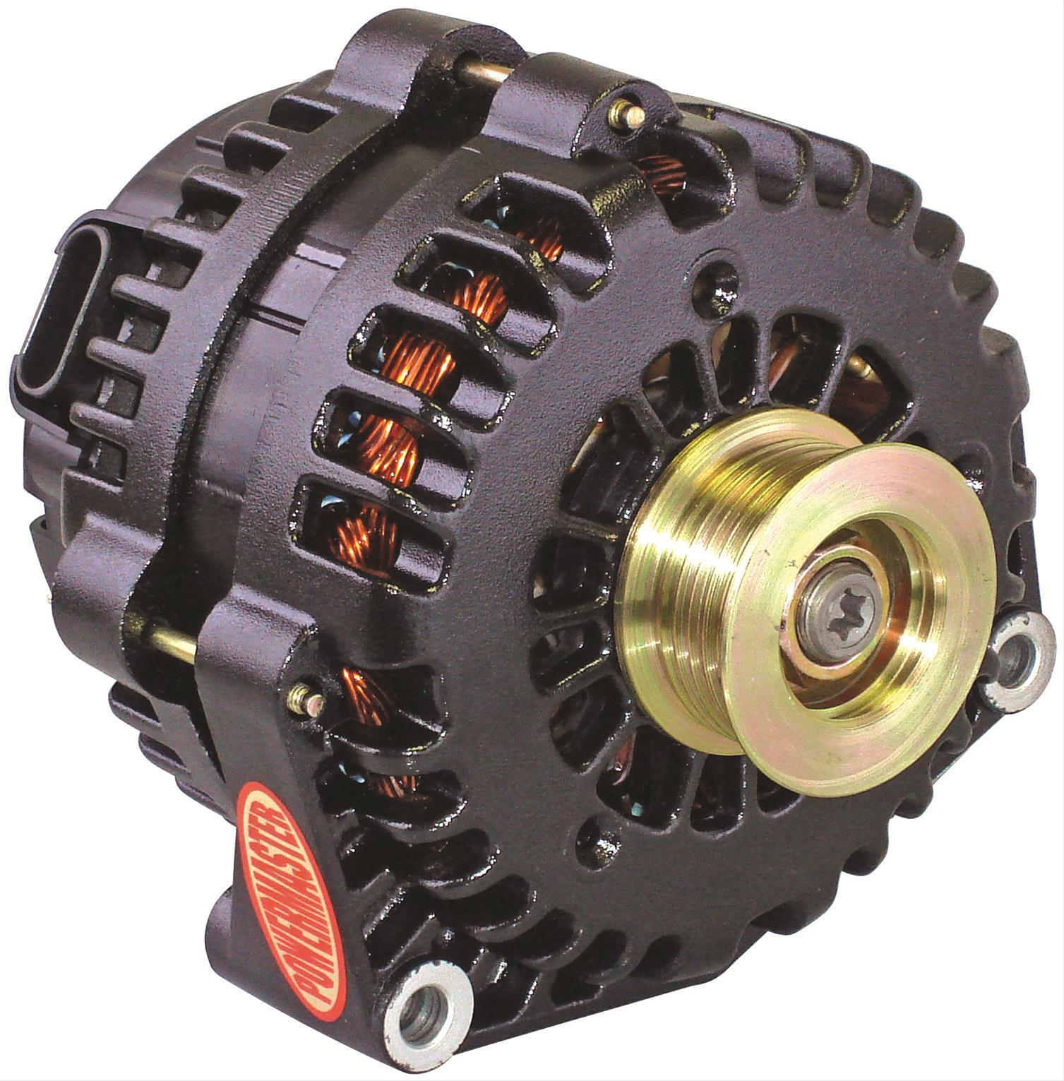 hight resolution of powermaster gm style ad alternator pm58302 black 215 amp 2 pin 6 rib pulley