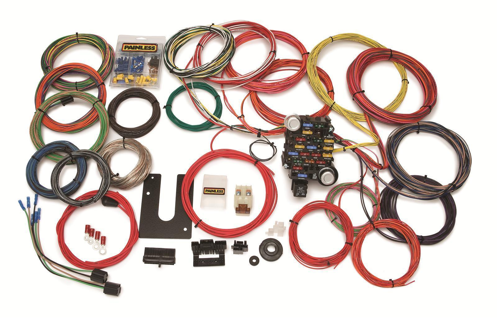 hight resolution of painless wiring 28 circuit wiring harness kit pw10220 universal boot mount