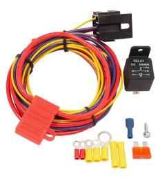 quick fuel holley aeromotive etc fuel pump 30amp 30 amp wiring kit quick fuel technology [ 1600 x 1587 Pixel ]
