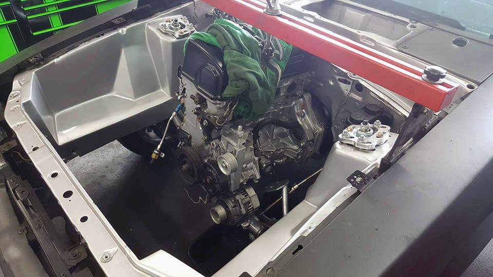 Mustang With A Turbo K20 K24 Engine Swap Depot