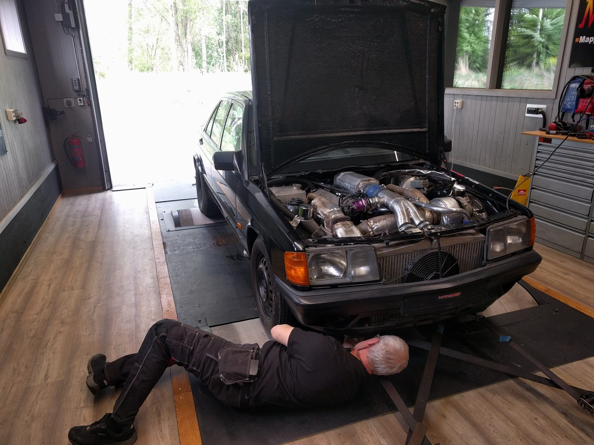 Wiring Harness Conversion Mercedes 190 With A Twin Turbo Chevy V8 Engine Swap Depot