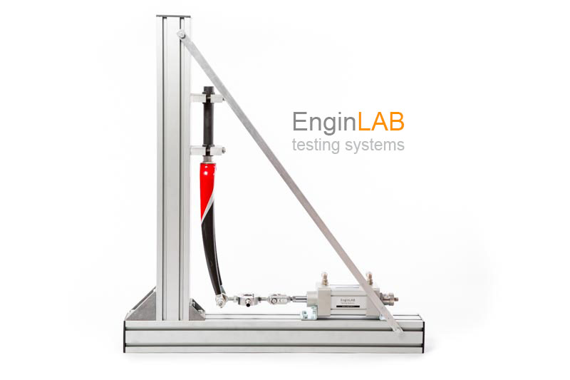 Machine for static and fatigue test on materials and