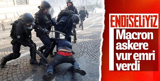 Fransız hükümeti polis ve askerlerine 'vur emri' verdi