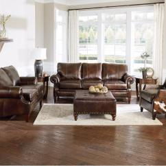 Leather Swivel Recliner Chair And Ottoman Mickey Mouse Club Ethan Allen England Furniture Loveseat   Factory Tour