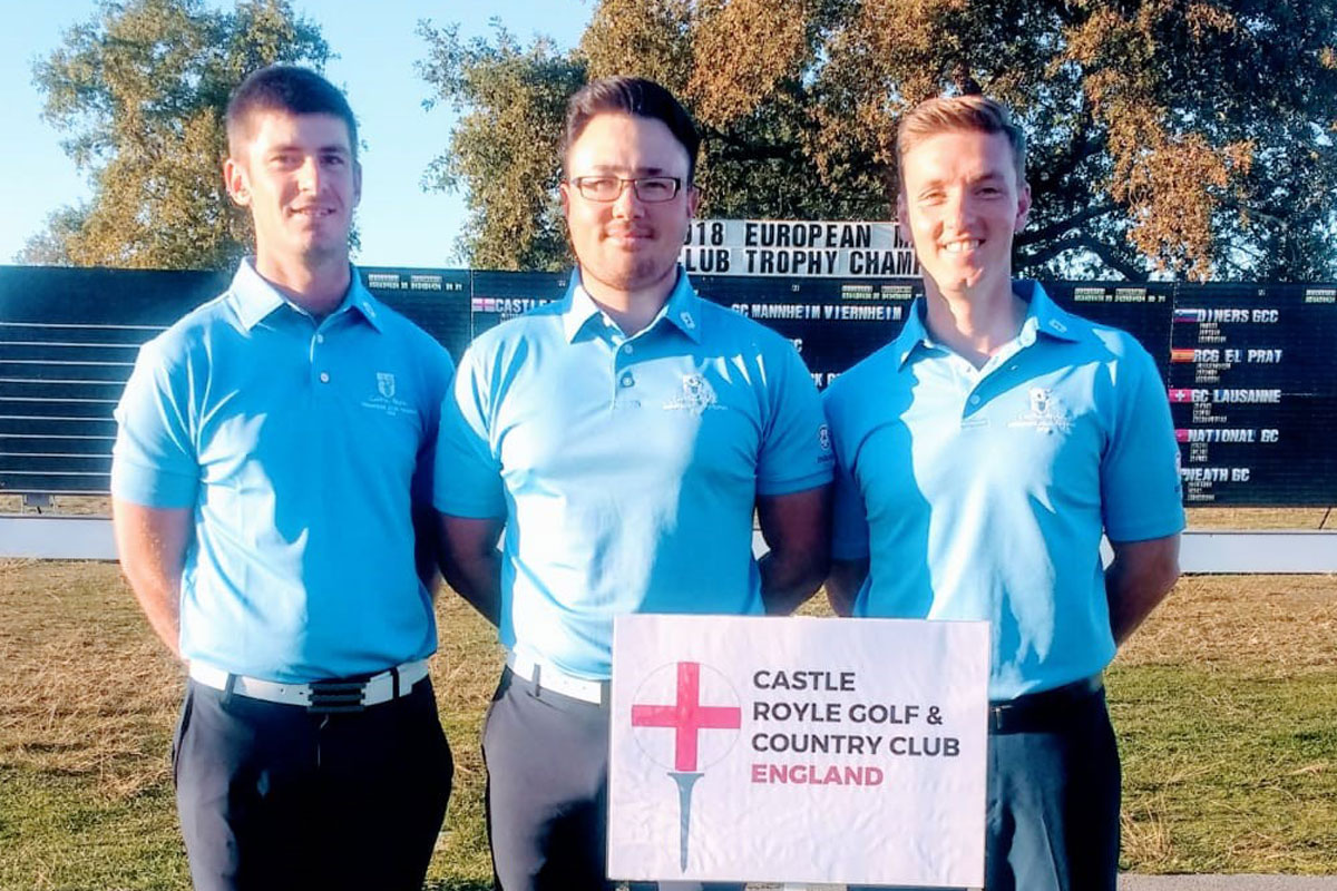 Castle Royle trio fly the English flag
