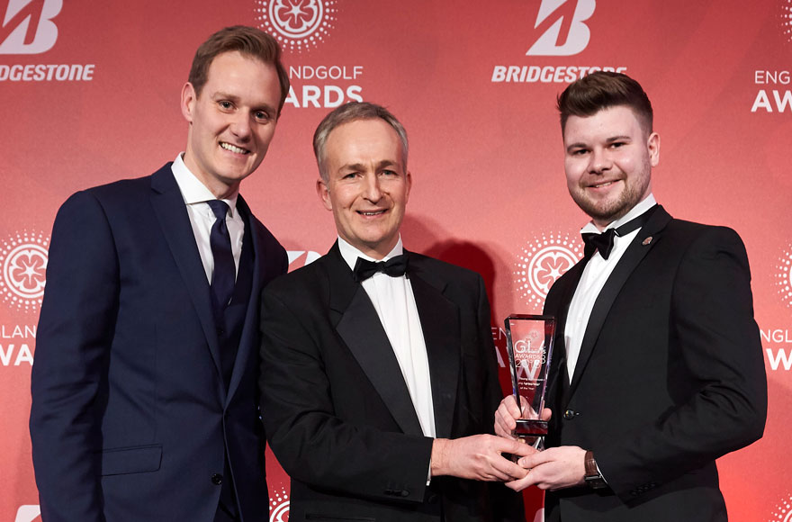 What does it mean to win an England Golf Award?