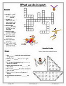 ESL Kids Puzzles, Printable Crossword and Word Search