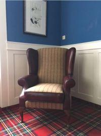 Harris Tweed Collection: Whitehall Wing Chair in Harris Tweed