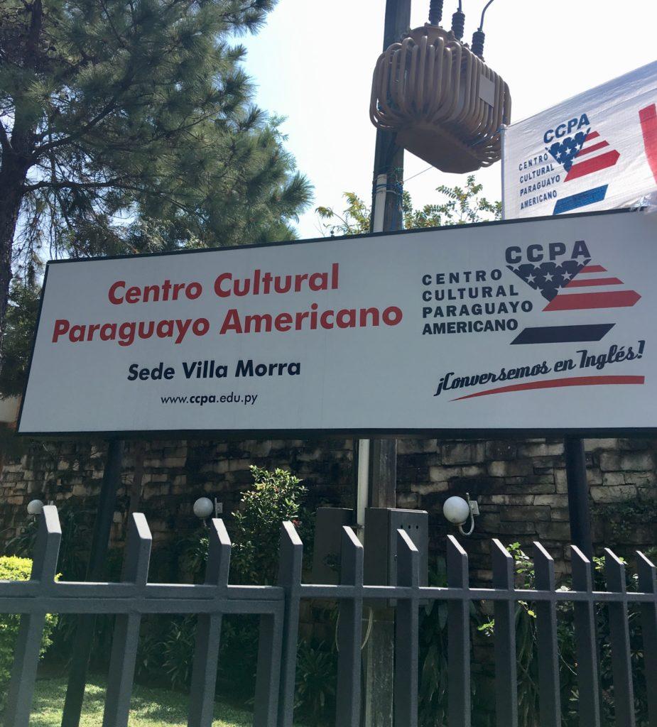 sign of Centro Cultural Paraguyo Americano