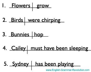 Diagramming Sentences Exercises: Chapter 1