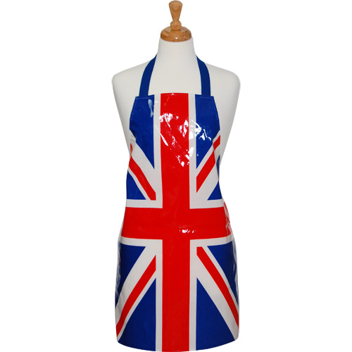 kitchen aprons oil bronze faucet union jack pvc apron