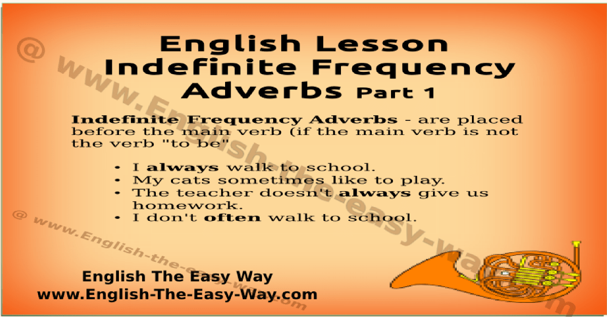 Adverbs Of Frequency English Grammar Online English