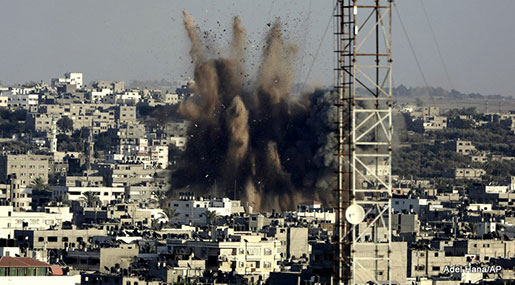 New Round of 'Israeli' Strikes against Besieged Gaza