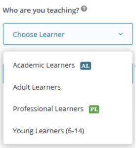 Choose learners with the GSE teacher toolkit