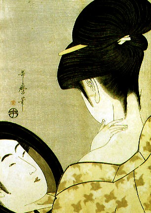 Kitagawa Utamaro Girl Powdering Her Neck