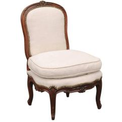Louis Xv Chair White Resin Stacking Chairs French 18th Century Upholstered Slipper Stamped Bernhard English Accent Antiques