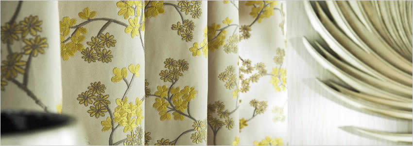 cream living room curtains beach style ideas chinoiserie embroidered flowers white gold & yellow luxury ...