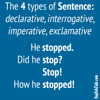 the 4 english sentence