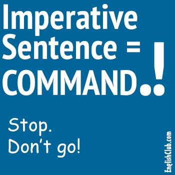 imperative sentence command grammar