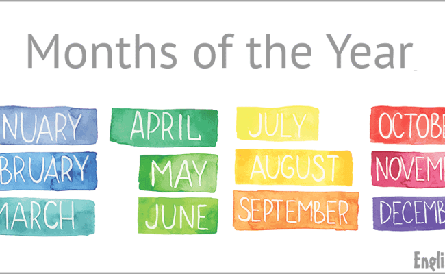 Months Of The Year Vocabulary Englishclub