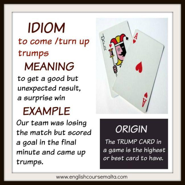 IDIOM TRUMP CARD English Course Malta