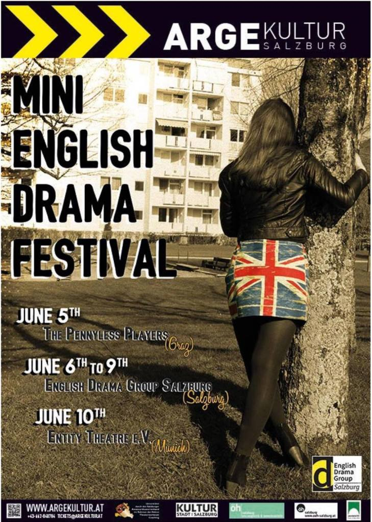 Poster announcing the english drama festival 2017