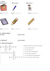English worksheets: the Classroom worksheets, page 7
