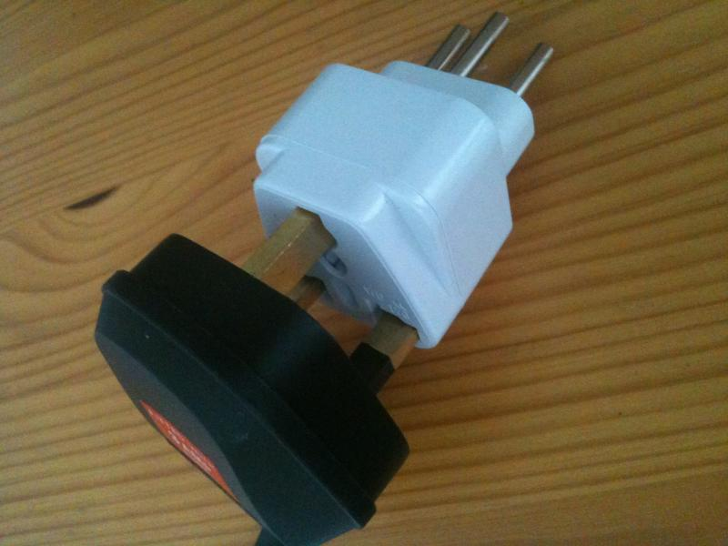 Swiss To Swiss Adapter 3 Prong To 2 Prong