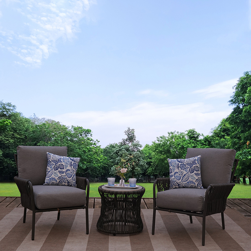 outer banks 3 piece all weather wicker outdoor patio furniture lounge set
