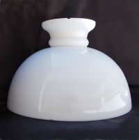 Antique opal dome oil lamp shade no.52 :: English Lamp Company