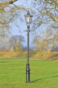 Garden Lamp Posts with PIR Sensors