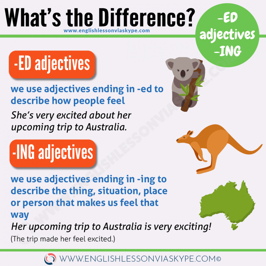 How To Use English Adjectives Ending In Ed And Ing