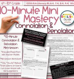 Connotation \u0026 Denotation Mini-Lesson [ 1024 x 1024 Pixel ]