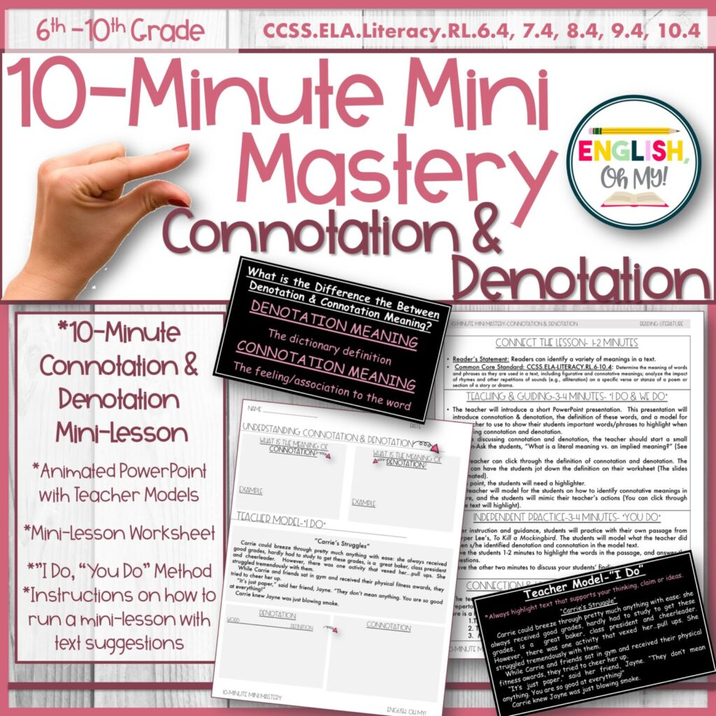 hight resolution of Connotation \u0026 Denotation Mini-Lesson