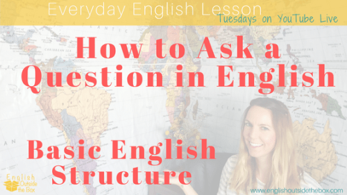 question structure english