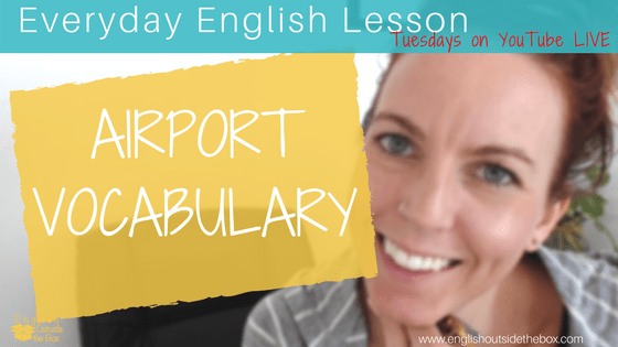 airport vocabulary in english