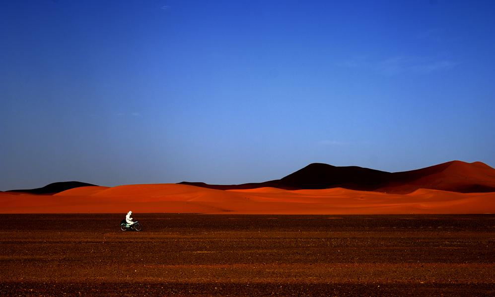 Lone Rider, Sahara Desert, Africa