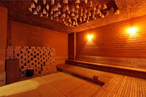 A wood kiln room with aromatic herbs and medicine