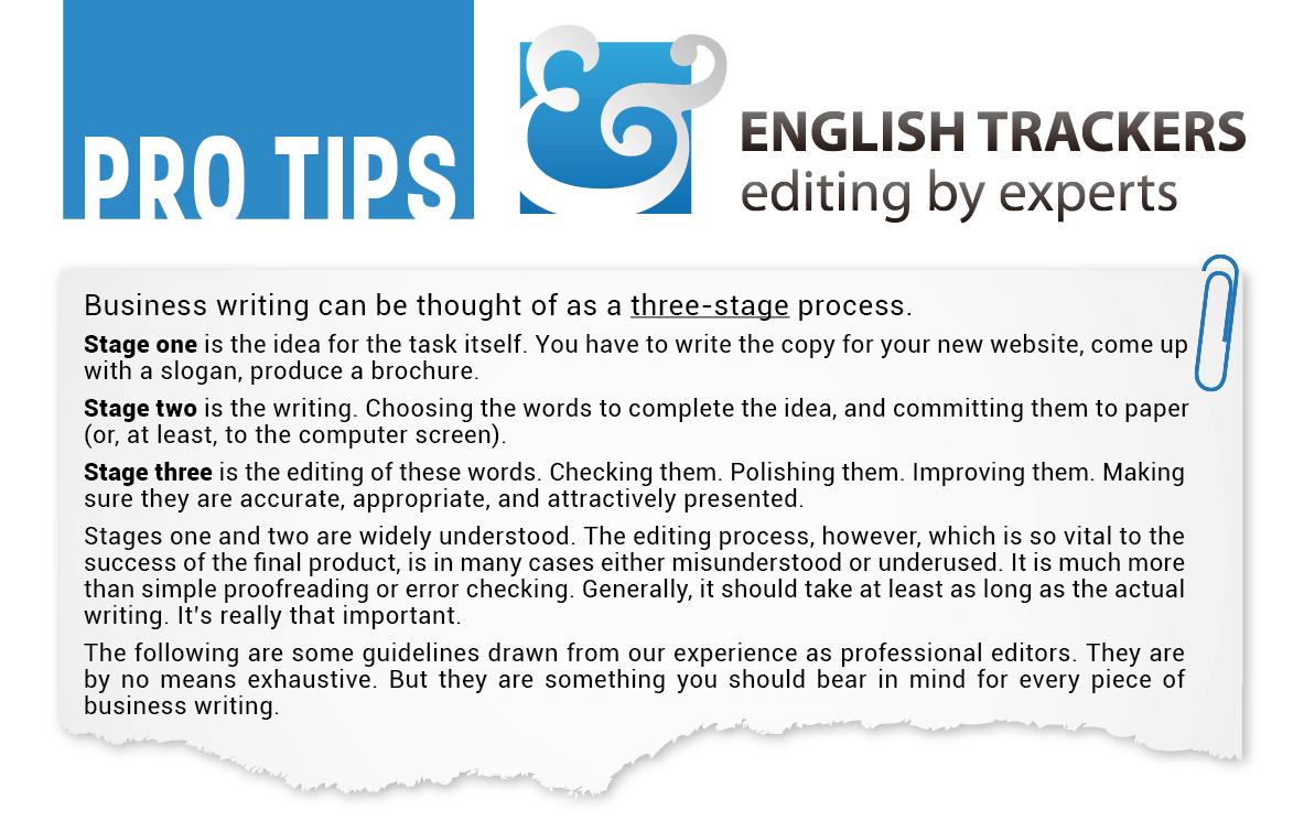 Free English Editing Tips