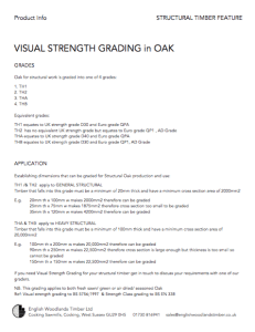 product info visual strength grading of oak